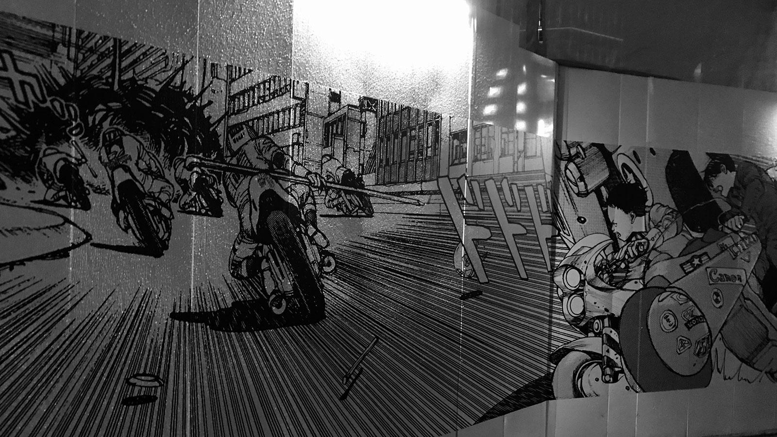 渋谷パルコ跡地工事現場の工事囲いに描かれたAKIRA
